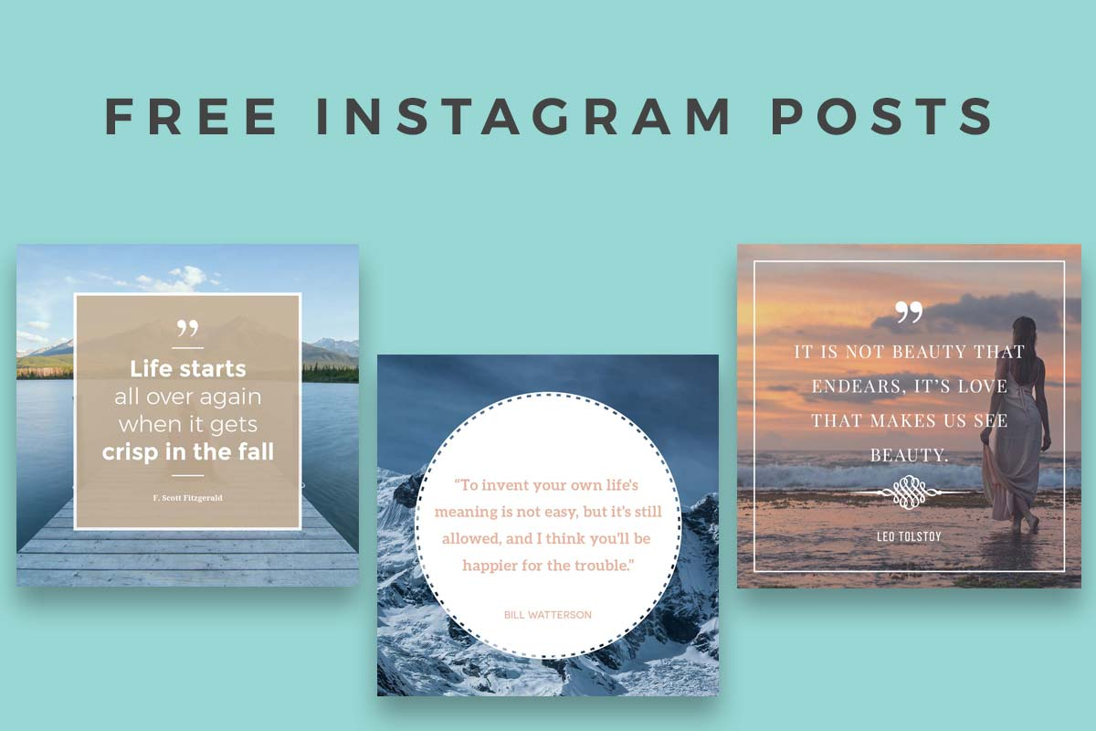 free instagram template - 5 free instagram posts templates creativetacos