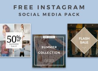 5 Free Instagram Social Media Pack
