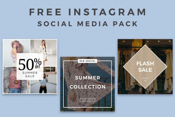 5 Free Instagram Social Media Pack