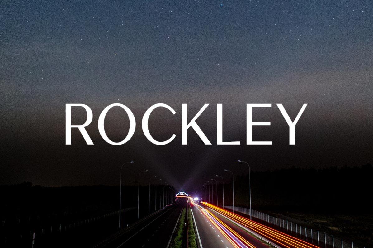Free Rockley Sans Serif Font