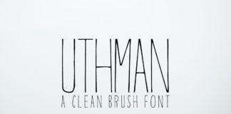 Free Uthman Brush Thin Font