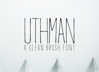Free Uthman Brush Thin Font