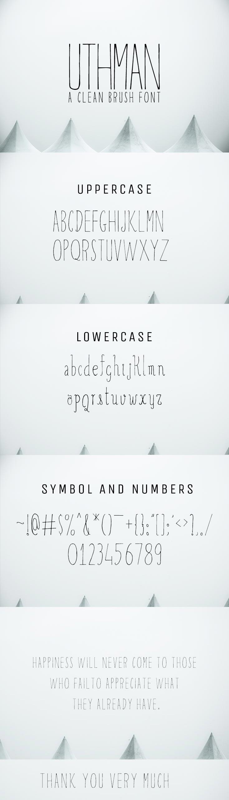 Free Uthman Brush Font