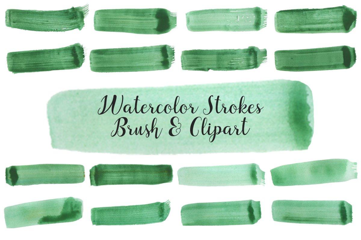 Free Watercolor Strokes Brush Vol. 2
