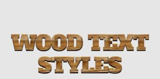 Free Wood Text Styles