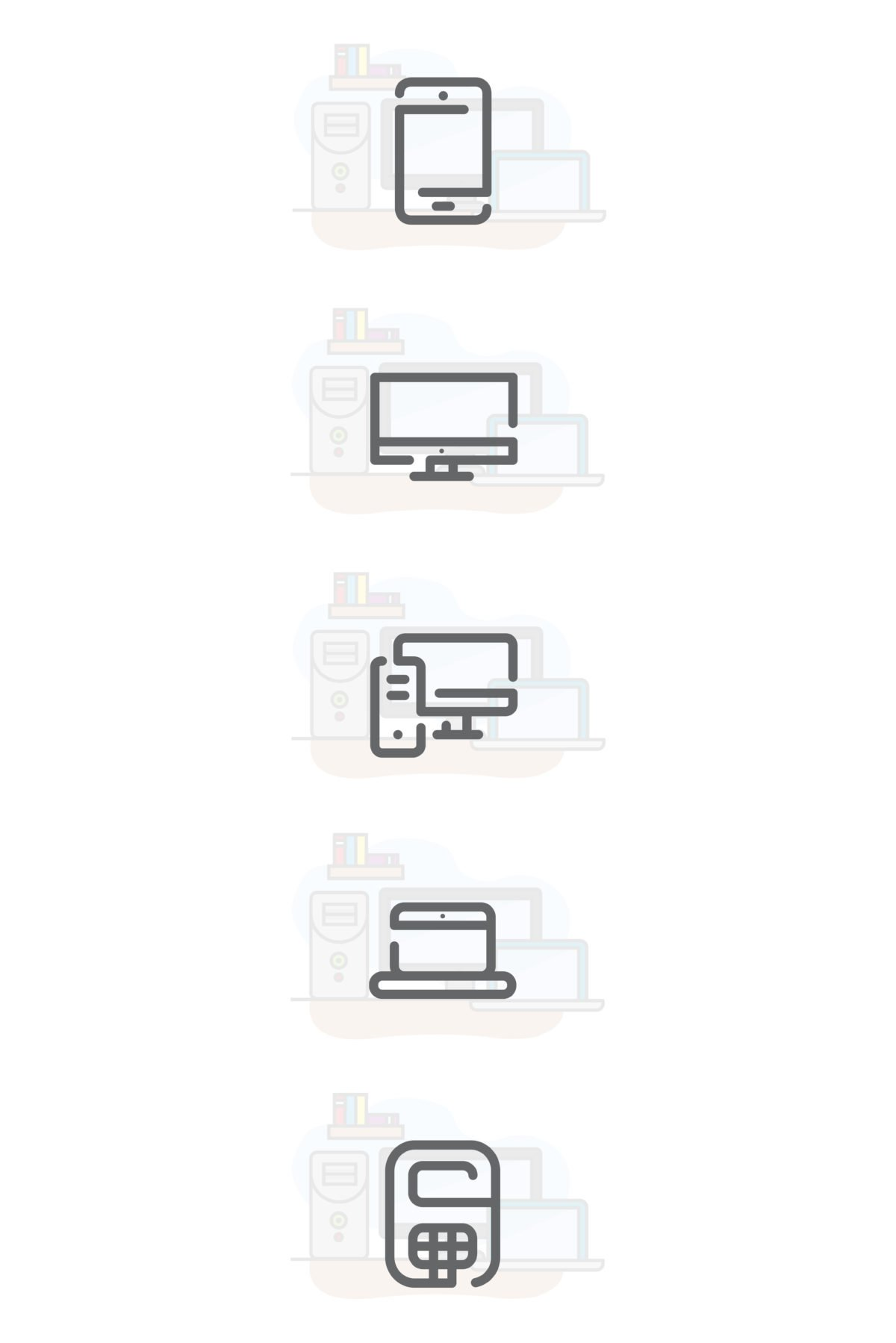 5 Free Electronic Device Icons