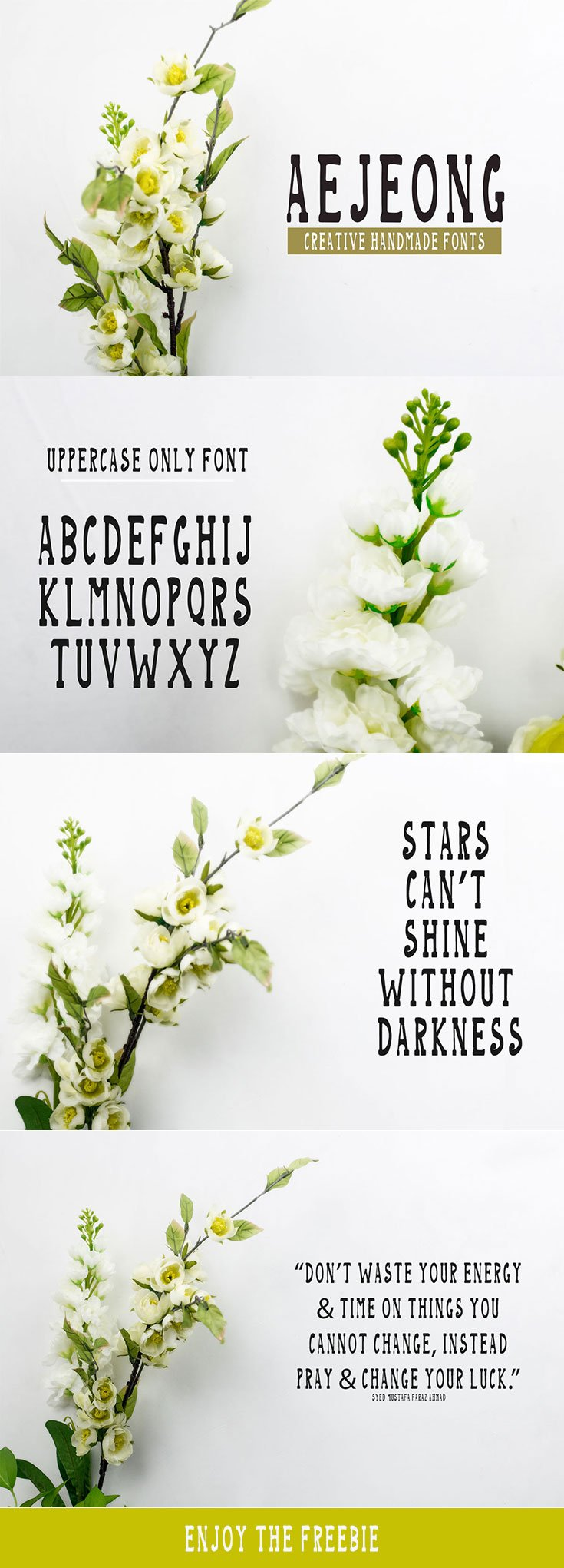Free Aejeong Hand Made Font