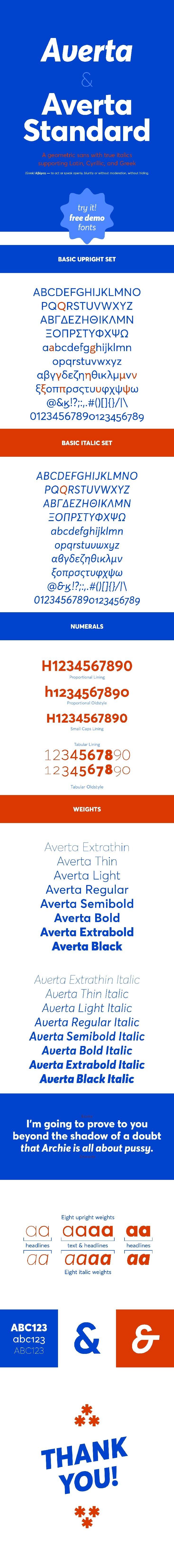 Free Averta Demo Font