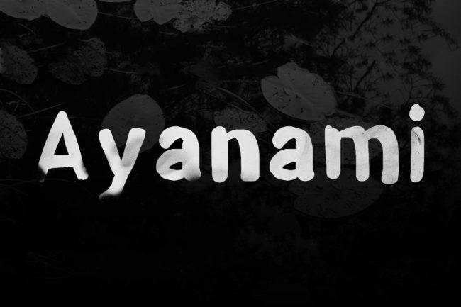Free Ayanami Brush Font