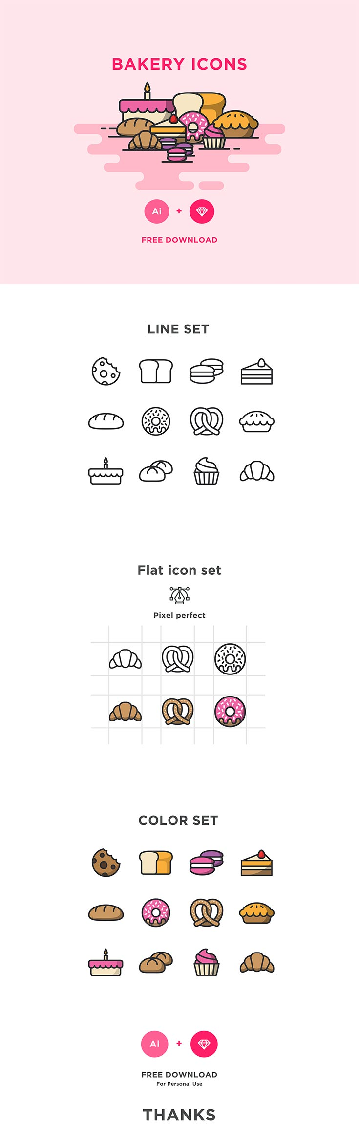 Free Bakery Icons Pack