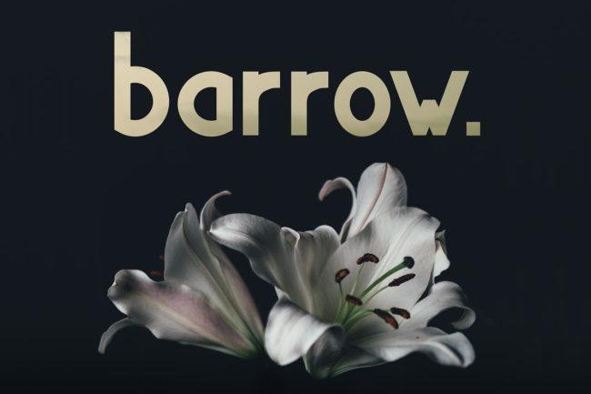 Free Barrow Display Typeface