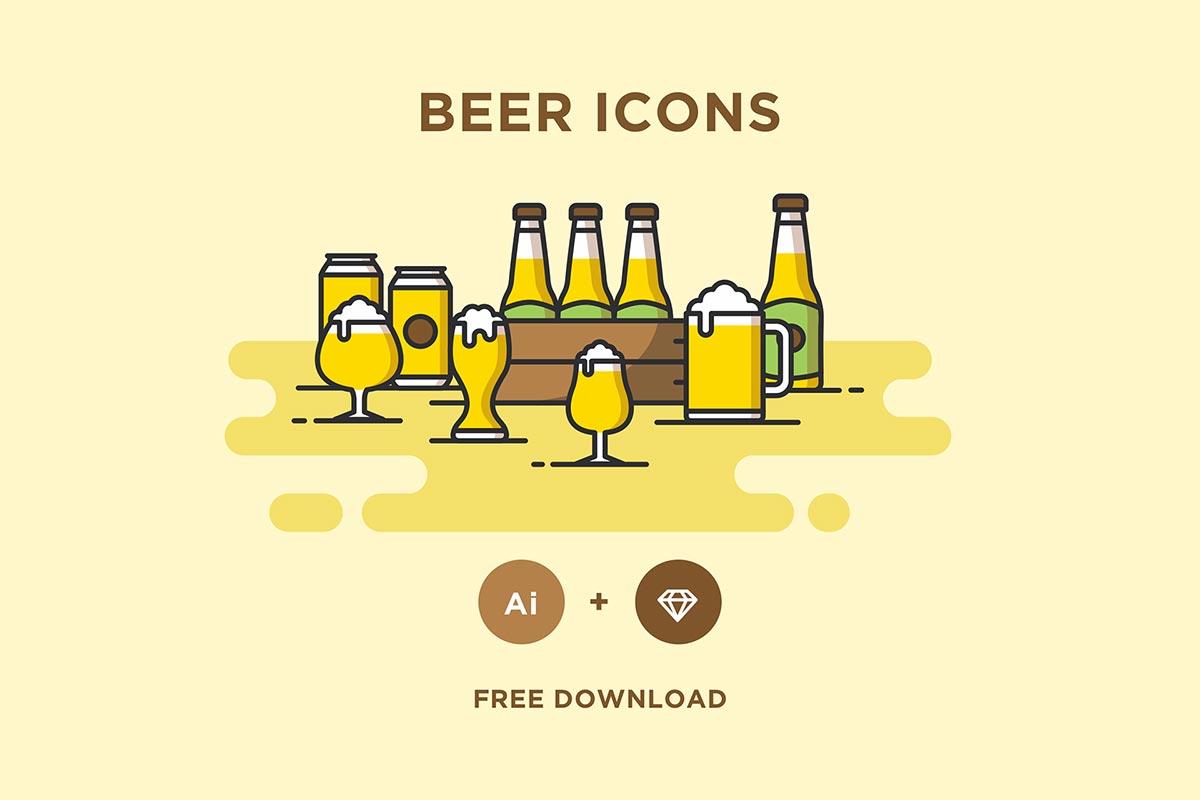 Free Beer Icons Pack