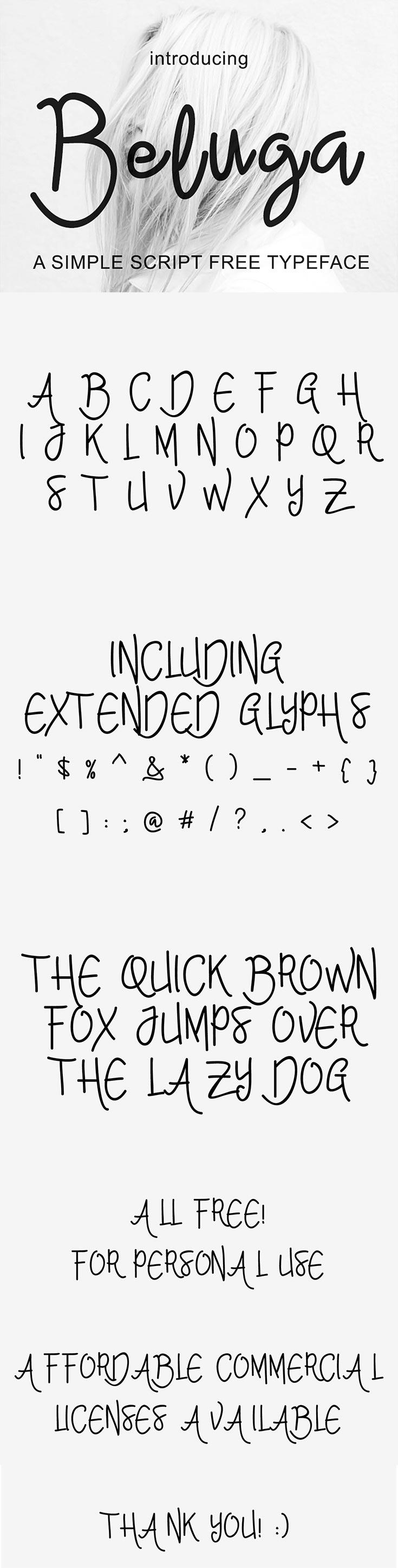 Free Beluga Script Font