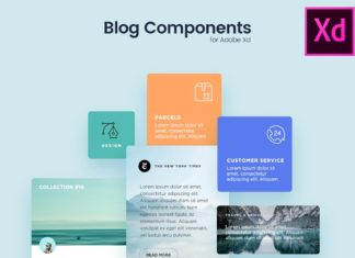 Blog Components Free UI Kit