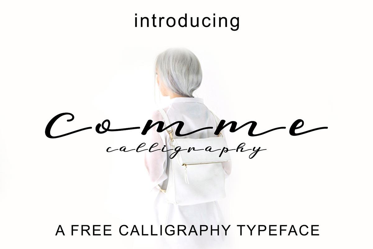 Free Comme Script Font