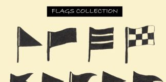 9 Free Flags Clipart Collection Set