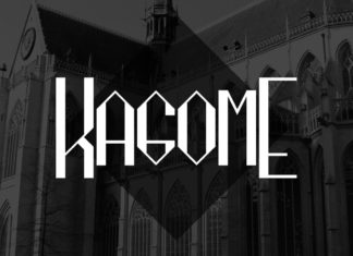 Free Kagome Fancy Font