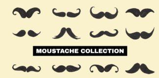 Free Moustache Collection Set