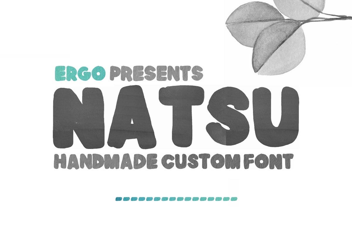 Free Natsu Handmade Font