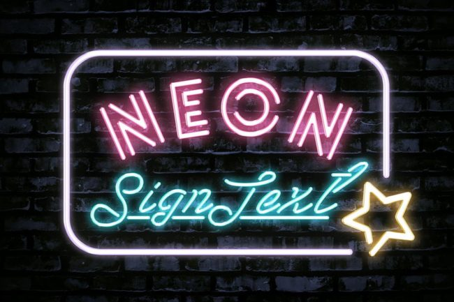 Free Neon Sign Text Effect