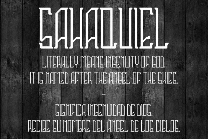 Free Sahaquiel Fancy Font