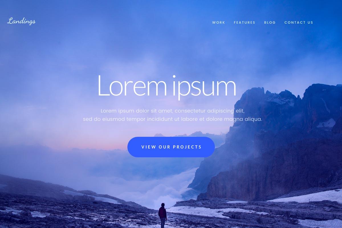 Landing Page Adobe XD