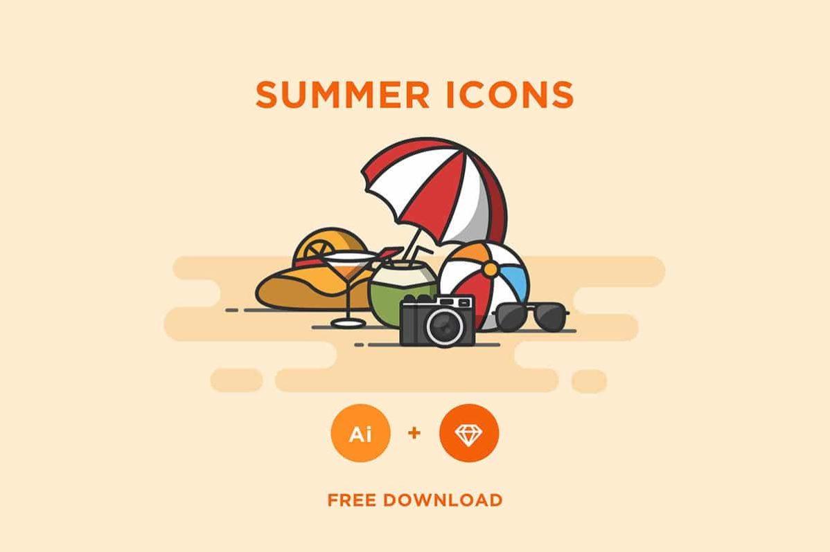Free Summer Icons Set