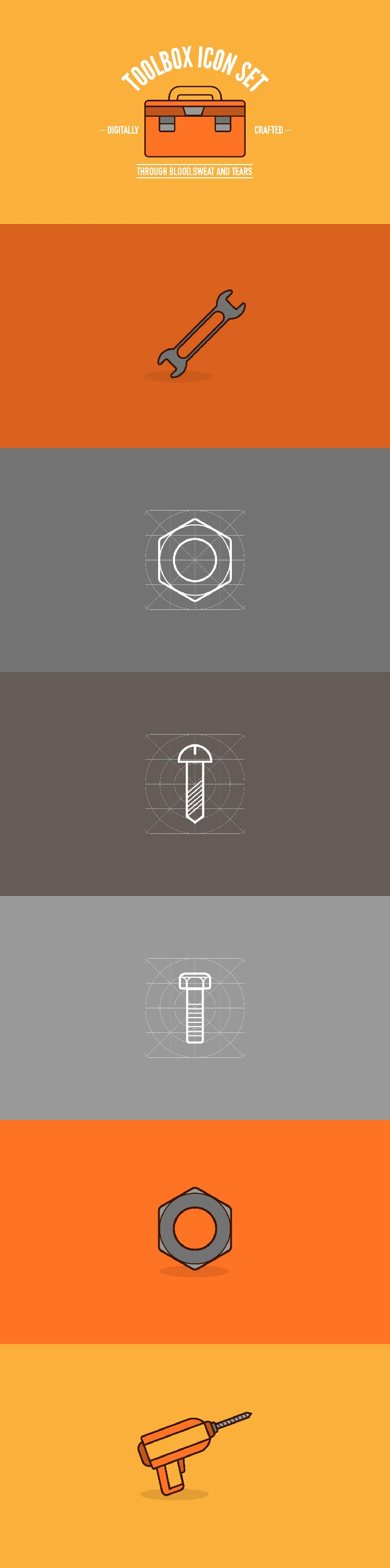 Free Toolbox Outline Icons Set