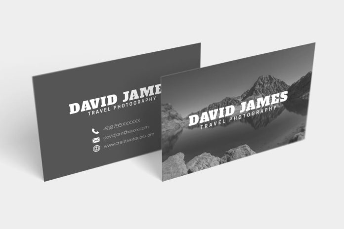 Free Travel Photography Business Card