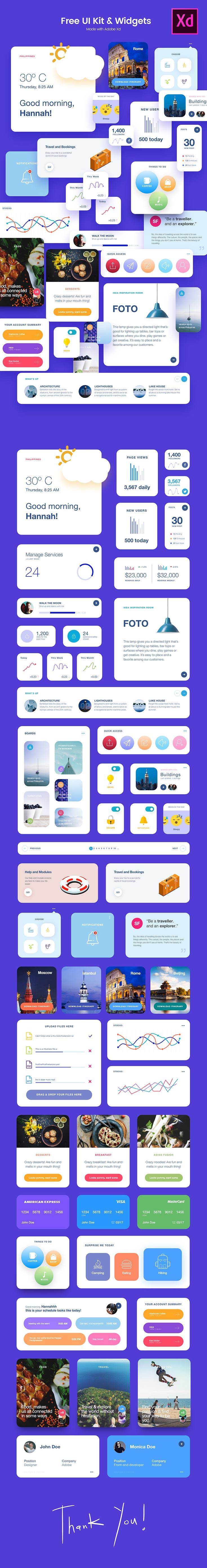 Free UI Kit and Widgets
