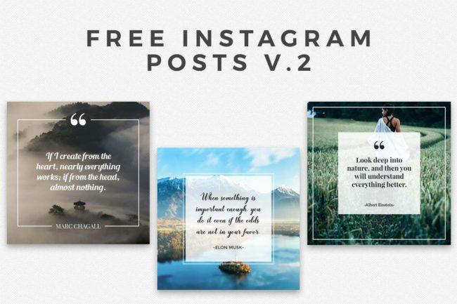 5 Free Instagram Posts V.2