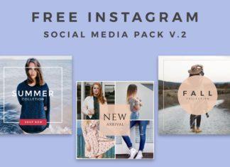 5 Free Instagram Social Media Pack V.2