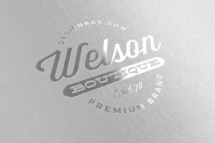 Free Metallic Silver Logo Mock-Up
