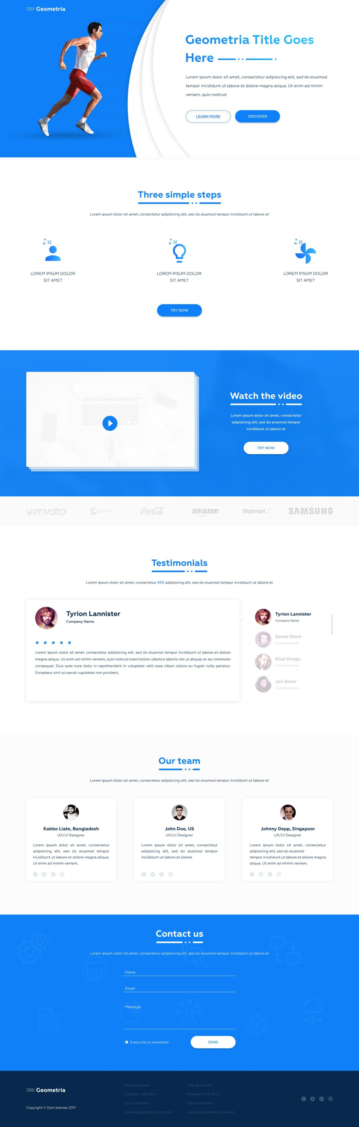Free Runner Onepage – PSD Templates