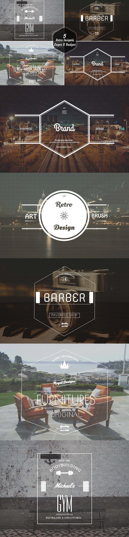 5 Free Retro Insignia Logos Badges Ver. 1