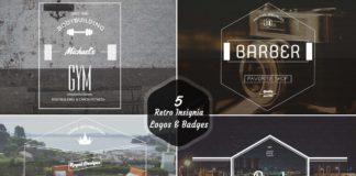 5 Free Retro Insignia Logos Badges