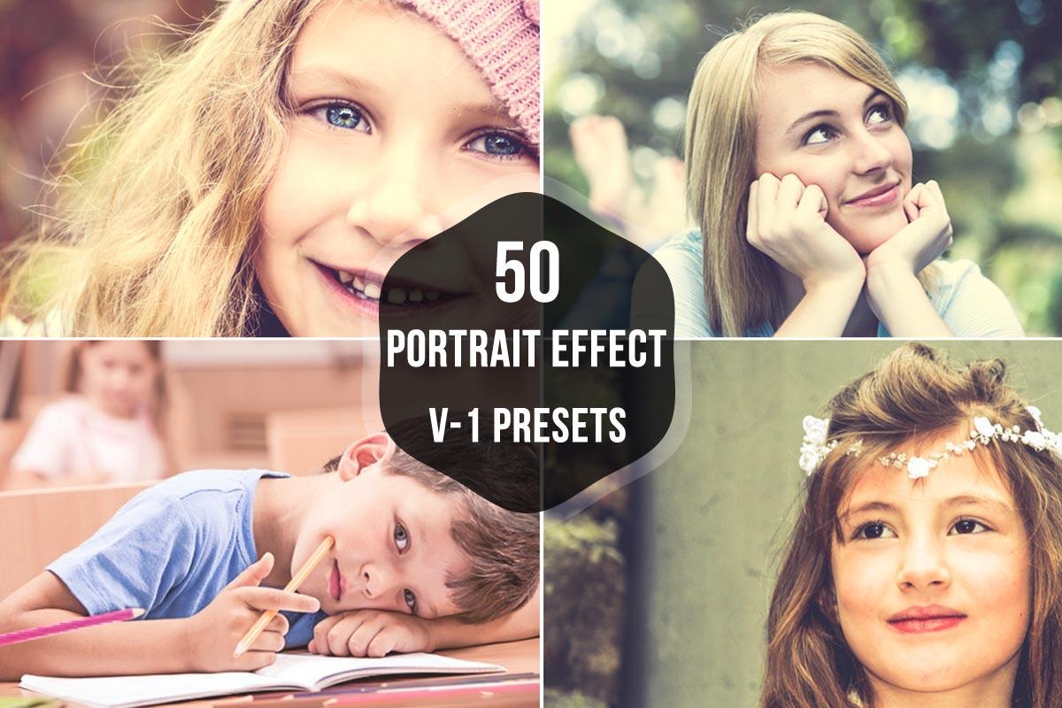 50 Free Portrait Effects Lightroom Presets