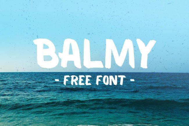 Free Balmy Brush Font