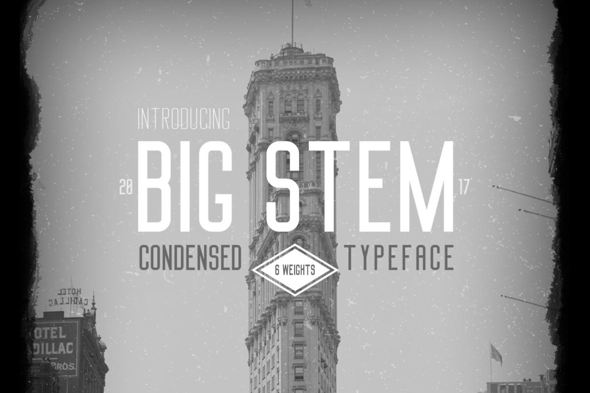 Free Big Stem Font
