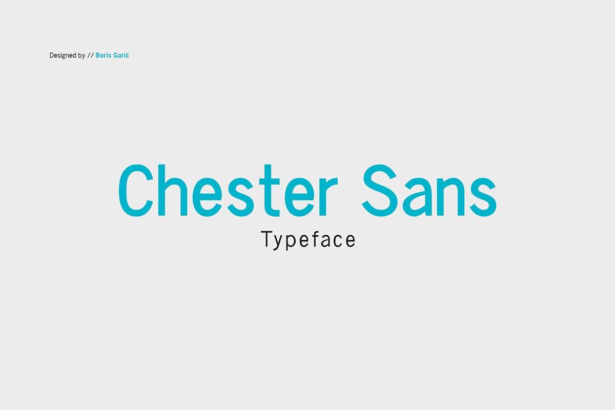 Free Chester Sans Serif Typeface