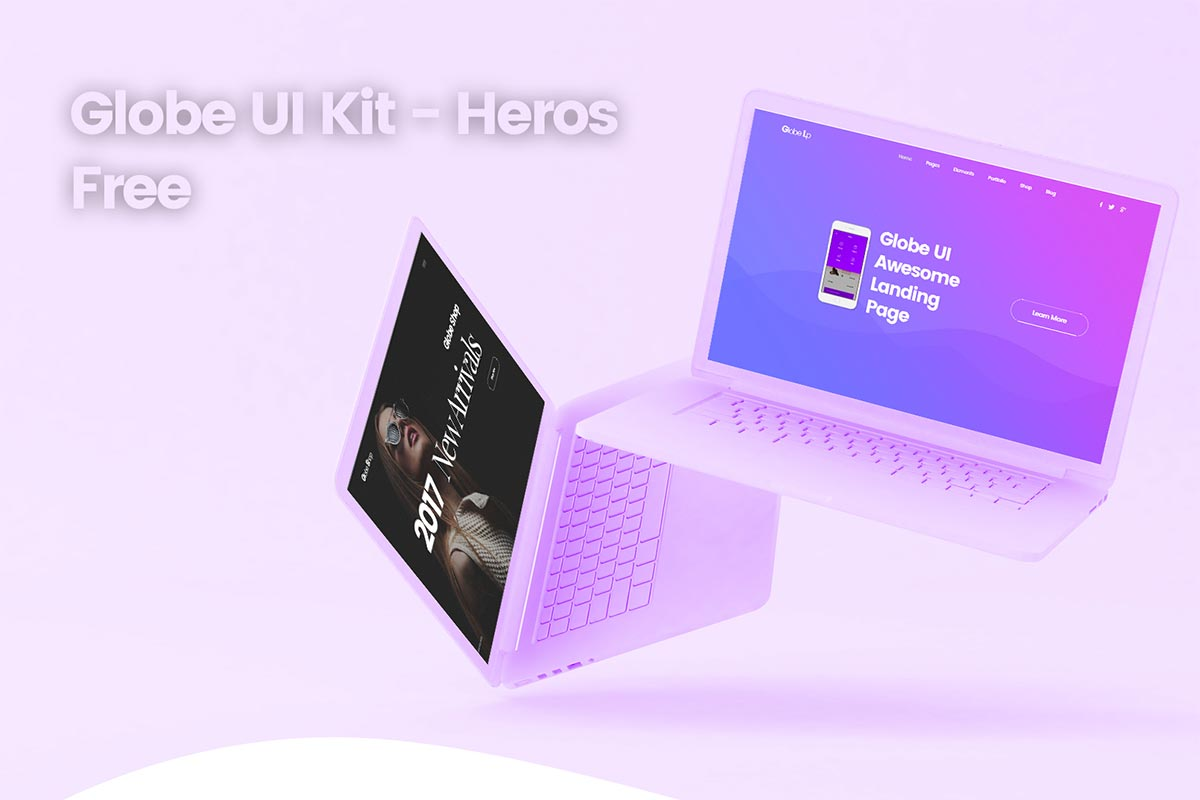Free Globe UI Kit Heros