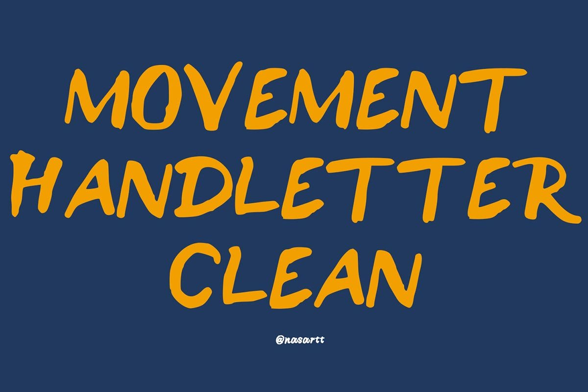 Free Movement Handletter Brush Font