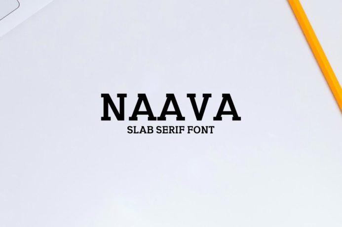 Free Naava Slab Serif Demo Font
