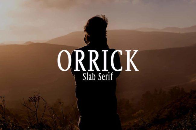 Free Orrick Slab Serif Font