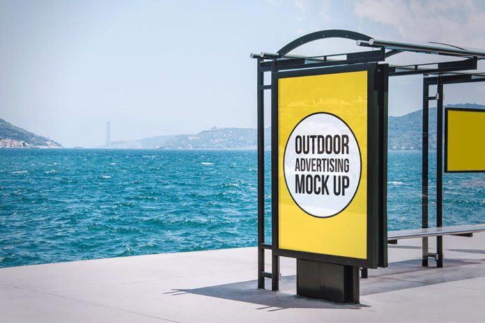 Free Outdoor Advertising Mockup Demo