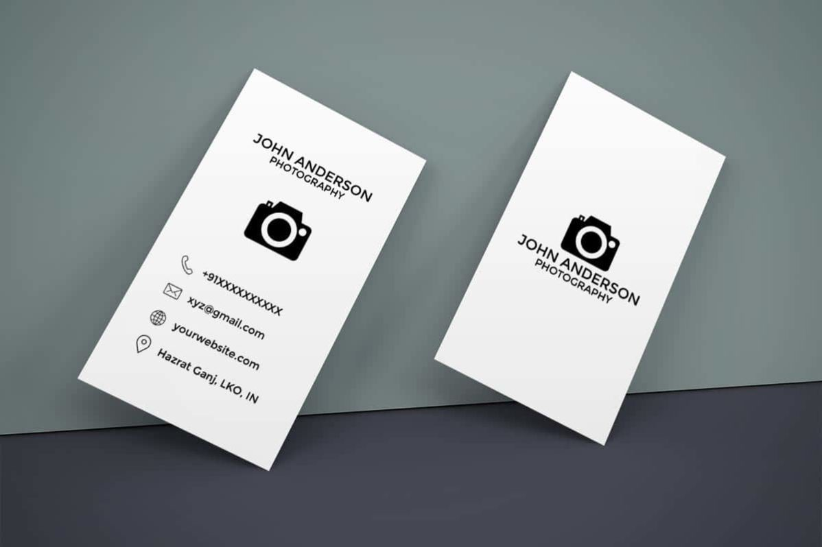 Free Photography Vertical Business Card