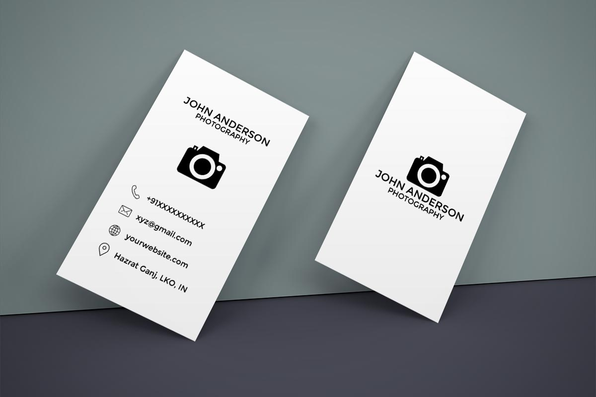 Free Photography Vertical Business Card - Creativetacos