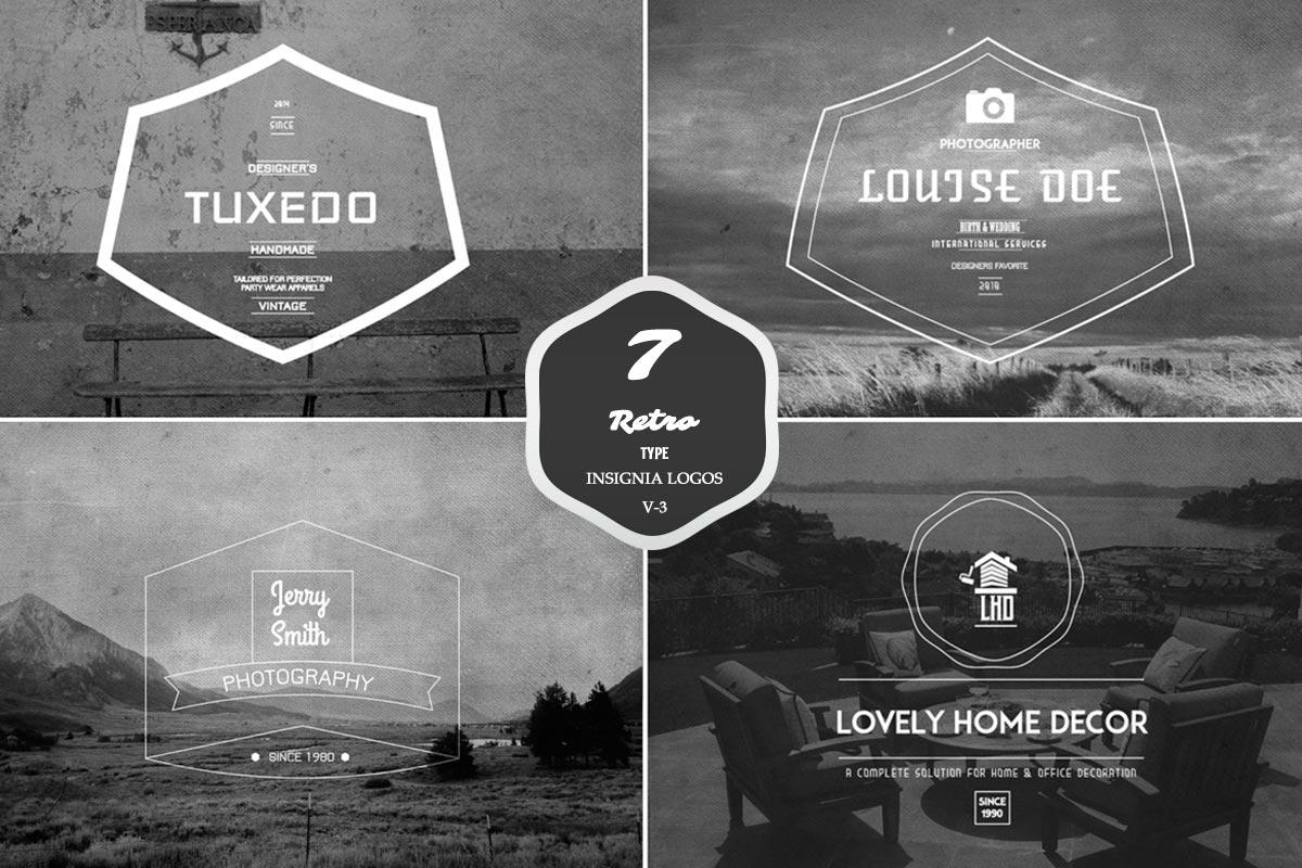 7 Free Retro Insignia Logos Badges
