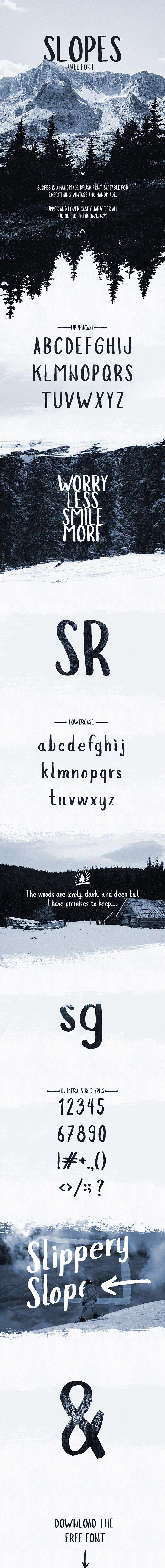 Free Slopes Brush Font