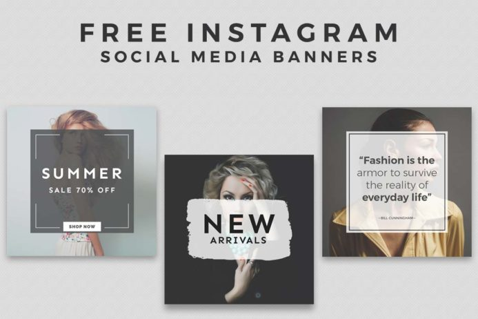 3 Free Instagram Social Media banners